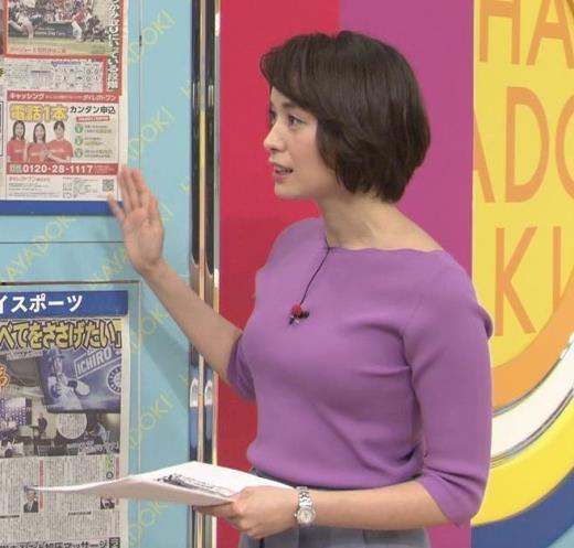 堀口ミイナ いつもニットおっぱいがエロいキャプ画像(エロ・アイコラ画像)