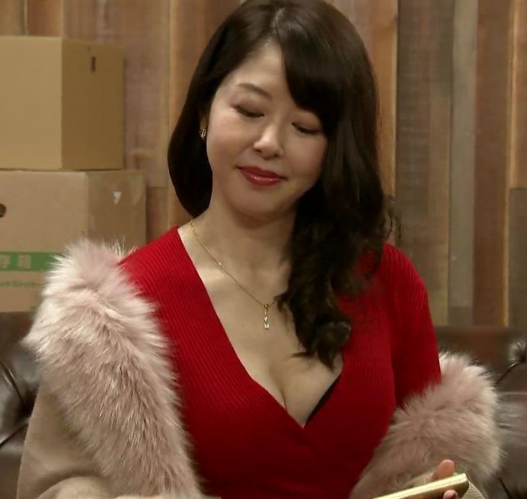 堀内敬子 胸の谷間キャプ・エロ画像