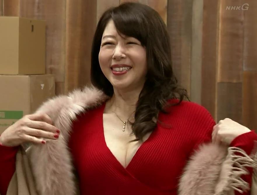 堀内敬子 胸の谷間キャプ・エロ画像10