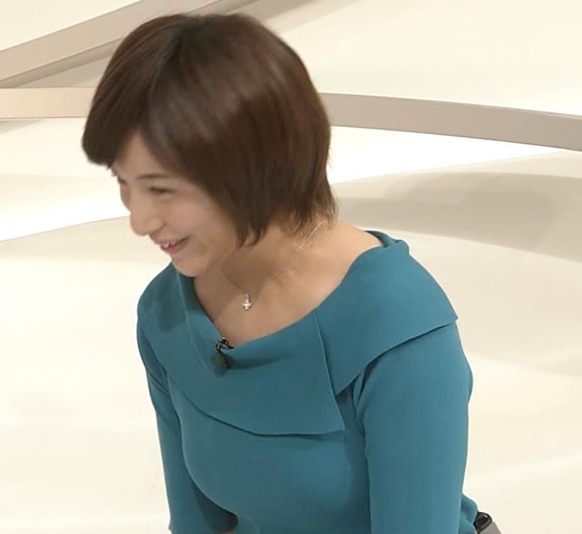 市來玲奈アナ おっぱいアピールの衣装キャプ・エロ画像7