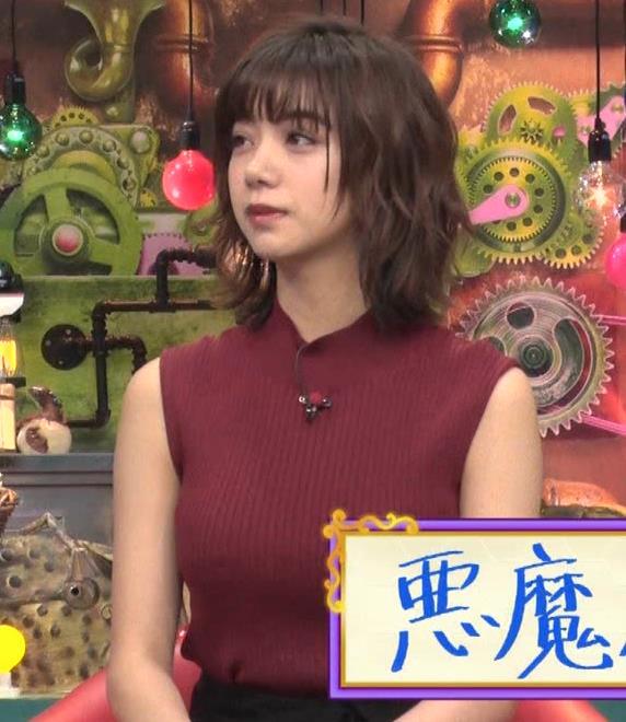 池田エライザ 巨乳×ニット。乳揺れGIF動画キャプ・エロ画像3