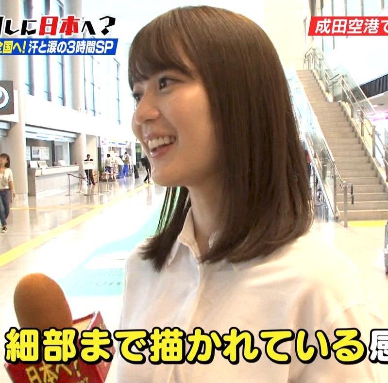 生田絵梨花 横乳とかスカートでタクシーから降りるとことかキャプ・エロ画像