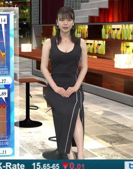井口綾子 史上最高にエロい経済番組キャプ・エロ画像2