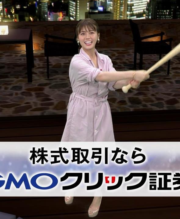 井口綾子 スカートのスリット(控えめエロ)キャプ・エロ画像7