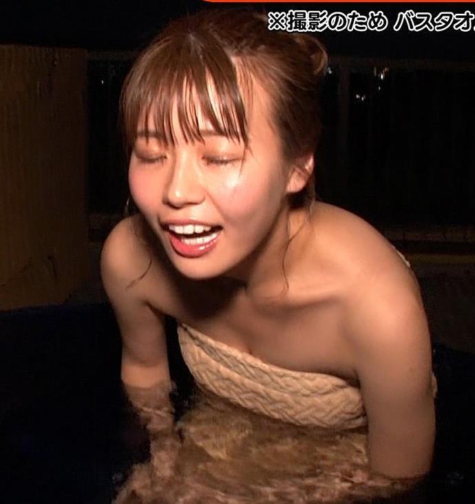 井口綾子 温泉入浴でバスタオル姿が激エロキャプ・エロ画像4