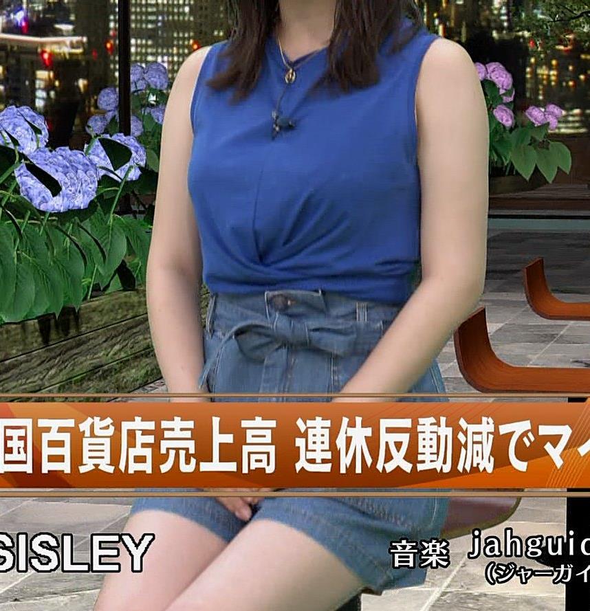 井口綾子 ノースリーブ横乳がすごいキャプ・エロ画像7