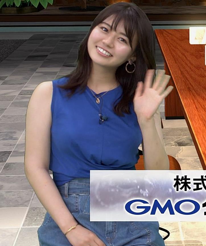井口綾子 ノースリーブ横乳がすごいキャプ・エロ画像9