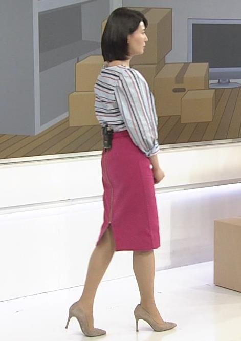 井上あさひアナ タイトスカートお尻。スタイルがいいキャプ・エロ画像4