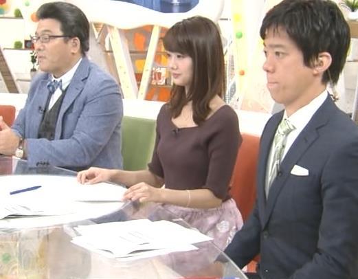 井上清華アナ ニットおっぱいキャプ・エロ画像6