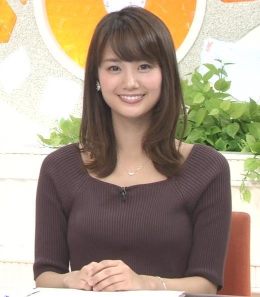 井上清華 ニットおっぱいキャプ画像(エロ・アイコラ画像)