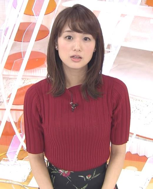 井上清華アナ またエロいニットおっぱいキャプ・エロ画像9