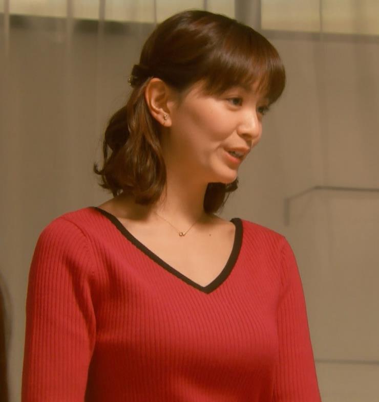 石橋杏奈 Vネックでデコルテ露出のニットおっぱい♡キャプ・エロ画像5