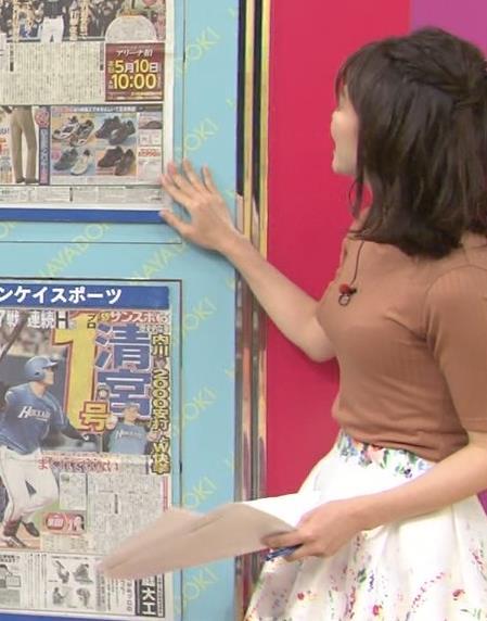 伊藤京子アナ クッキリしたニットおっぱいキャプ・エロ画像2