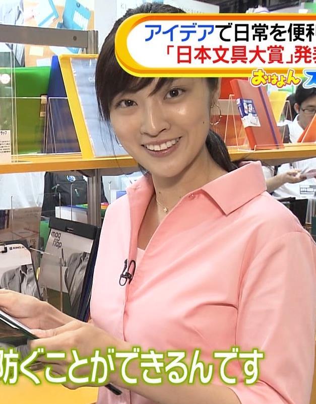 岩本乃蒼アナ シャツでおっぱいがちょいエロキャプ・エロ画像