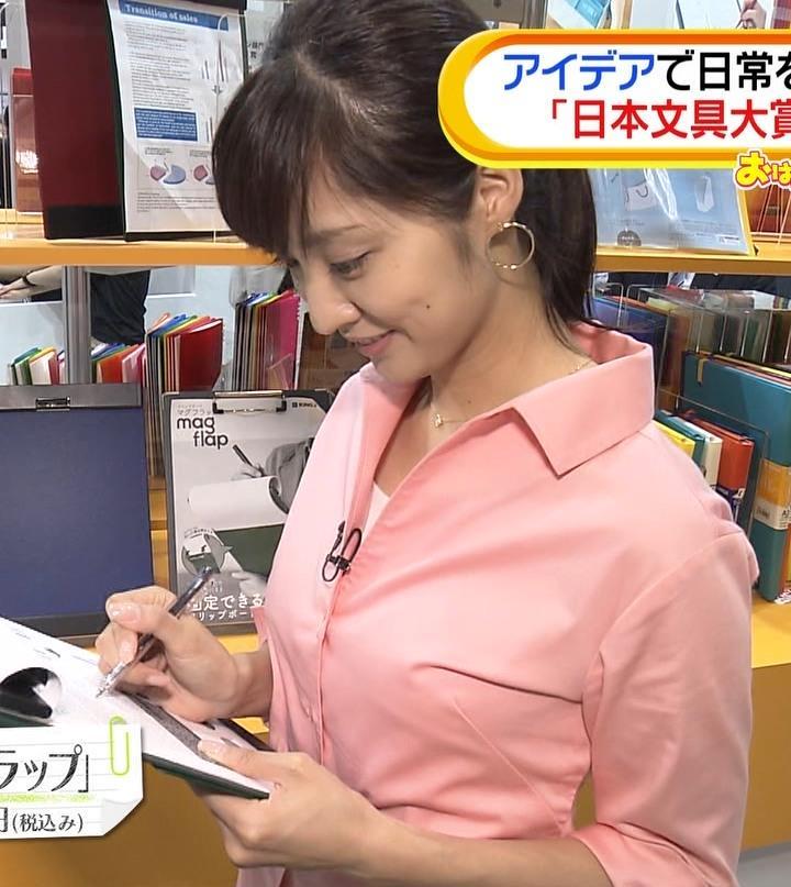 岩本乃蒼アナ シャツでおっぱいがちょいエロキャプ・エロ画像2