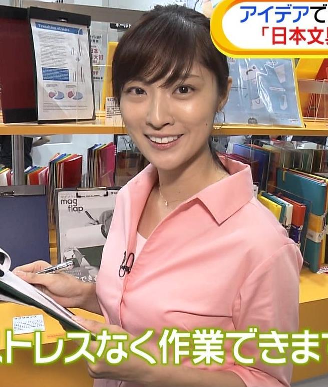 岩本乃蒼アナ シャツでおっぱいがちょいエロキャプ・エロ画像3
