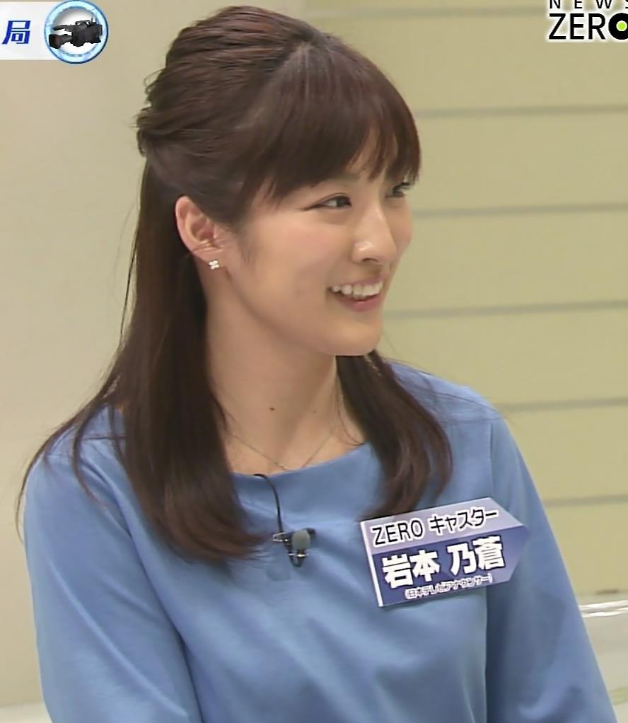 岩本乃蒼アナ おっぱいが目立つキャプ・エロ画像4