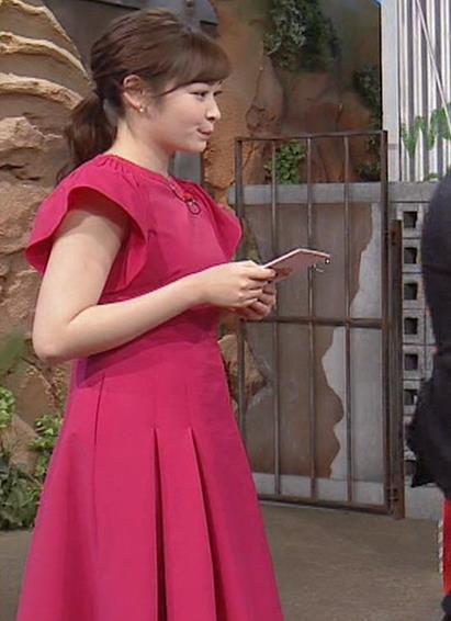 岩田絵里奈アナ ノースリーブでワキチラキャプ・エロ画像6