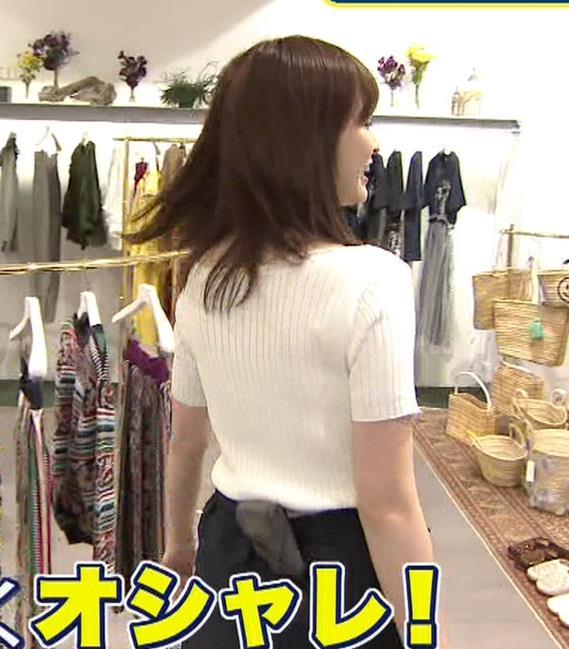 岩田絵里奈アナ エロいニット微乳キャプ・エロ画像