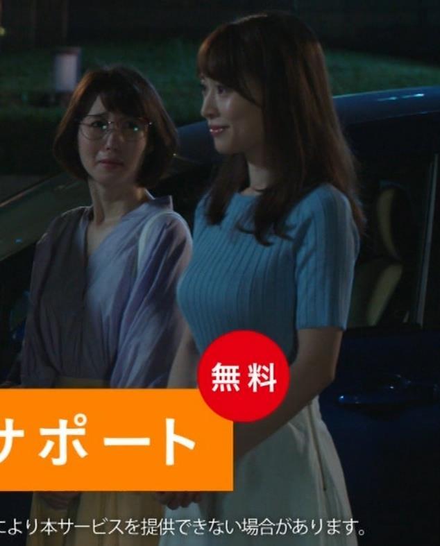 泉里香 保険CMのニットおっぱいエロ過ぎキャプ・エロ画像7