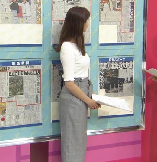 樺島彩 スタイルがいい美人アナキャプ画像(エロ・アイコラ画像)