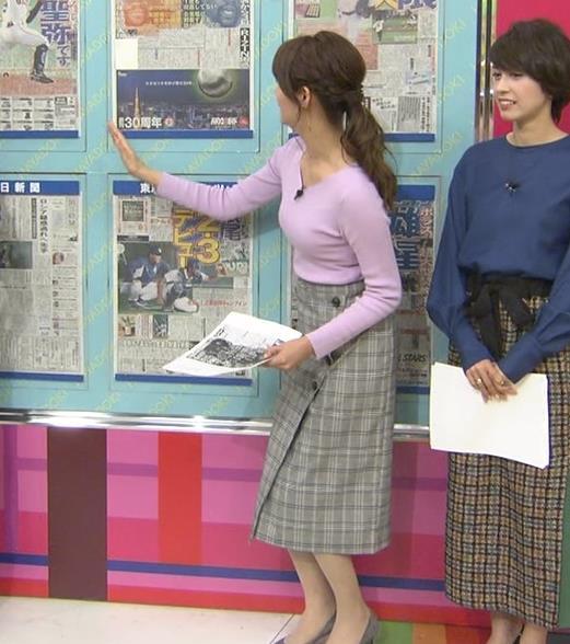 樺島彩アナ エロいニットおっぱいキャプ・エロ画像3