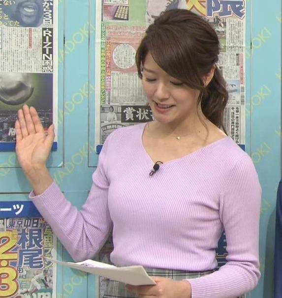 樺島彩アナ エロいニットおっぱいキャプ・エロ画像6
