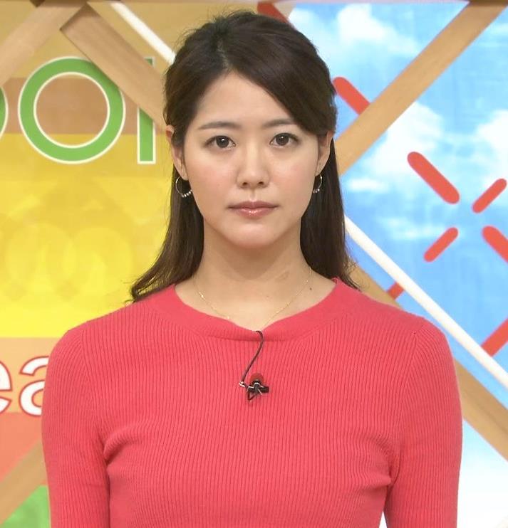 樺島彩アナ 巨乳アナのニット乳キャプ・エロ画像2