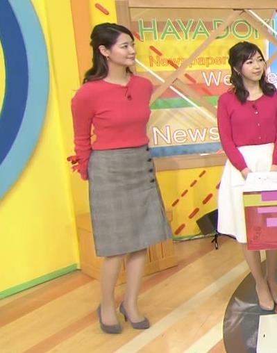 樺島彩アナ 巨乳アナのニット乳キャプ・エロ画像3