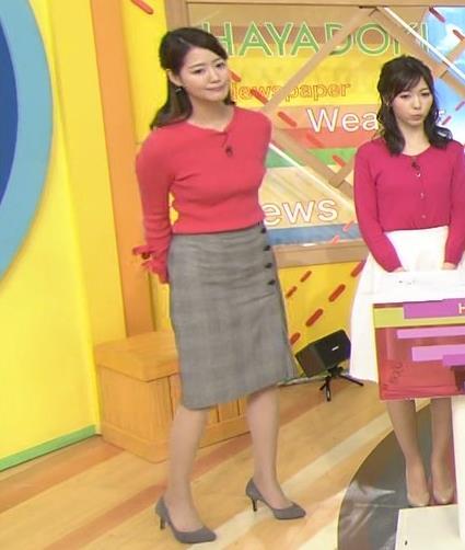 樺島彩アナ 巨乳アナのニット乳キャプ・エロ画像4