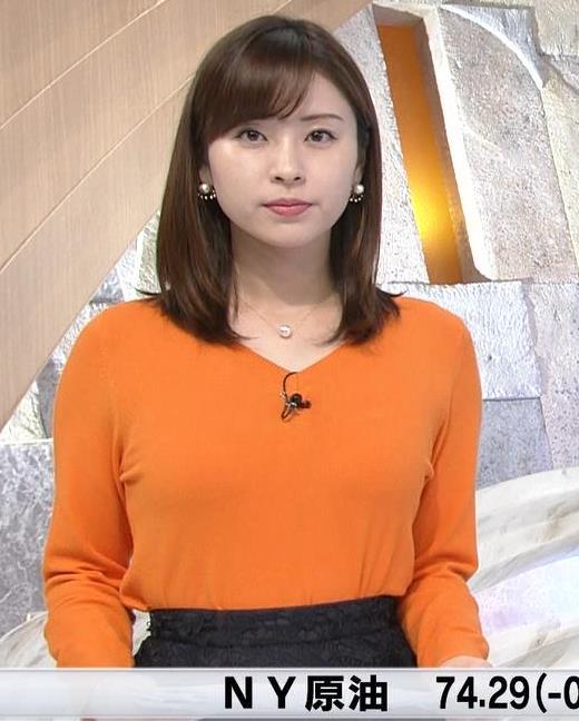 角谷暁子アナ デカい横乳キャプ・エロ画像