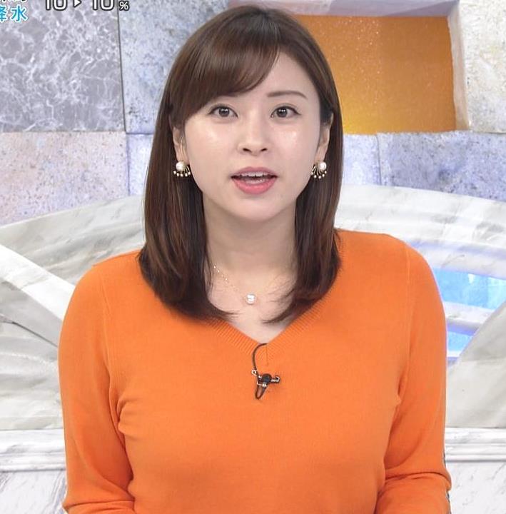 角谷暁子アナ デカい横乳キャプ・エロ画像2
