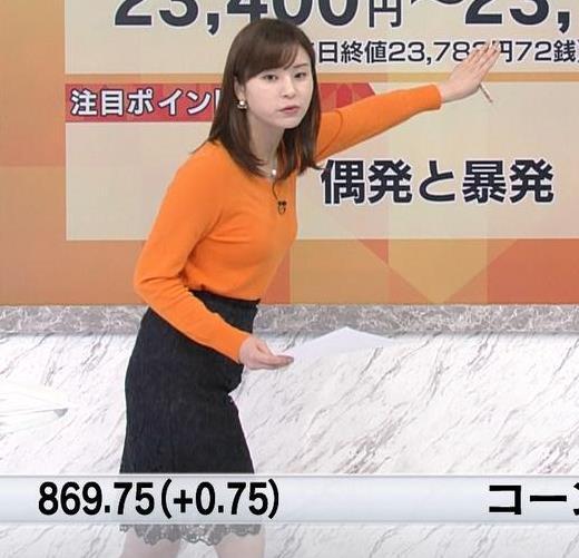 角谷暁子アナ デカい横乳キャプ・エロ画像5