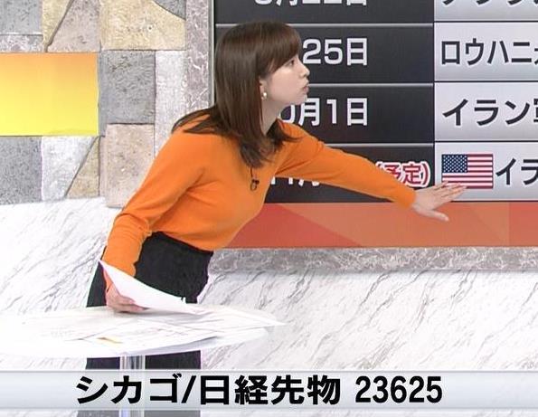 角谷暁子アナ デカい横乳キャプ・エロ画像6