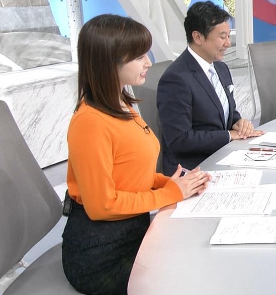 角谷暁子アナ デカい横乳キャプ・エロ画像7
