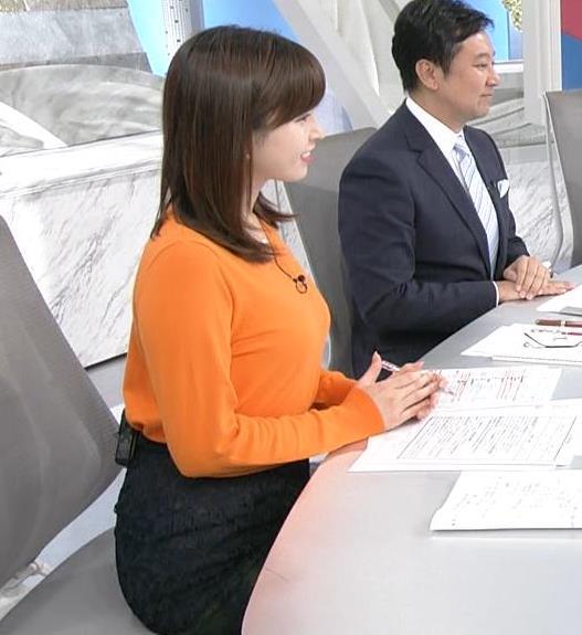 角谷暁子アナ デカい横乳キャプ・エロ画像8