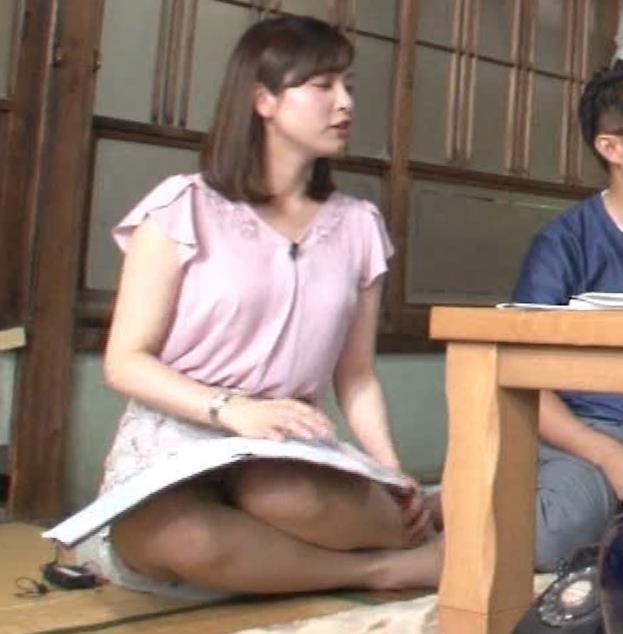 角谷暁子アナ おっぱいの盛り上がりがエロ過ぎキャプ・エロ画像