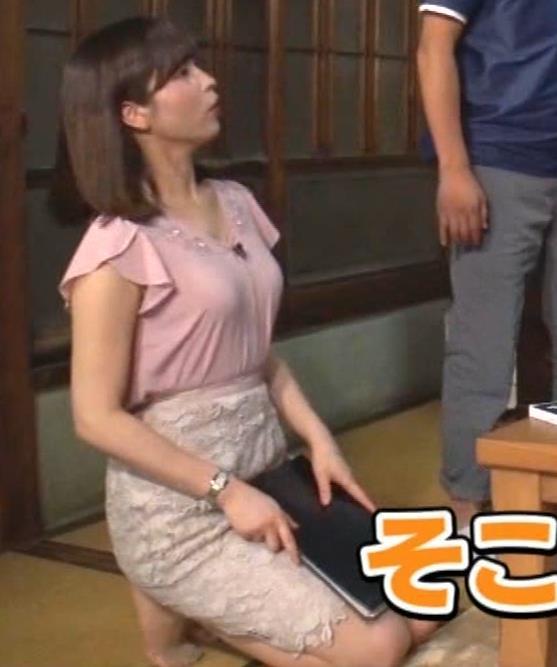 角谷暁子アナ おっぱいの盛り上がりがエロ過ぎキャプ・エロ画像10