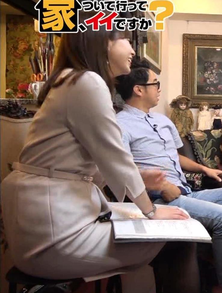 角谷暁子アナ 黒ストッキングキャプ・エロ画像2