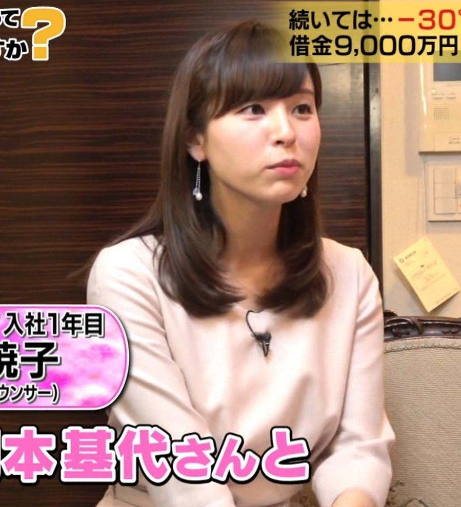 角谷暁子アナ 黒ストッキングキャプ・エロ画像3