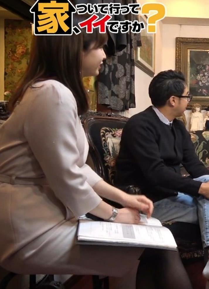 角谷暁子アナ 黒ストッキングキャプ・エロ画像5