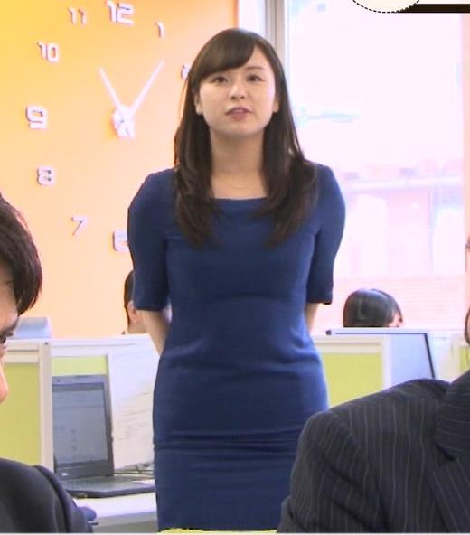 角谷暁子アナ タイトなワンピースキャプ・エロ画像