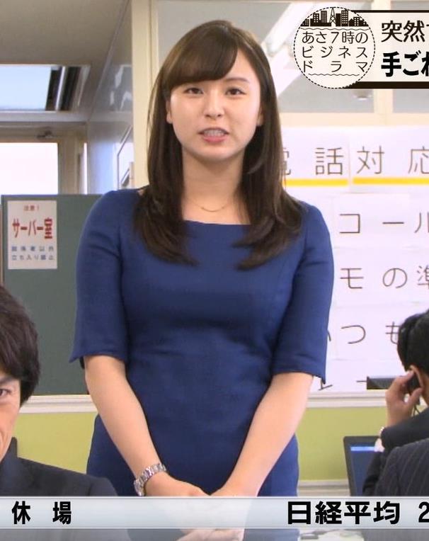 角谷暁子アナ タイトなワンピースキャプ・エロ画像3