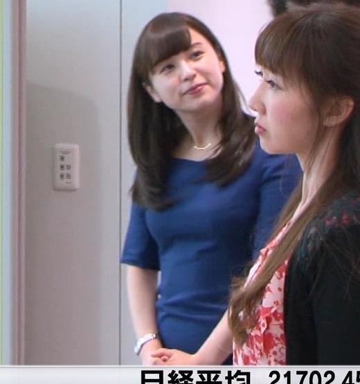 角谷暁子アナ タイトなワンピースキャプ・エロ画像4