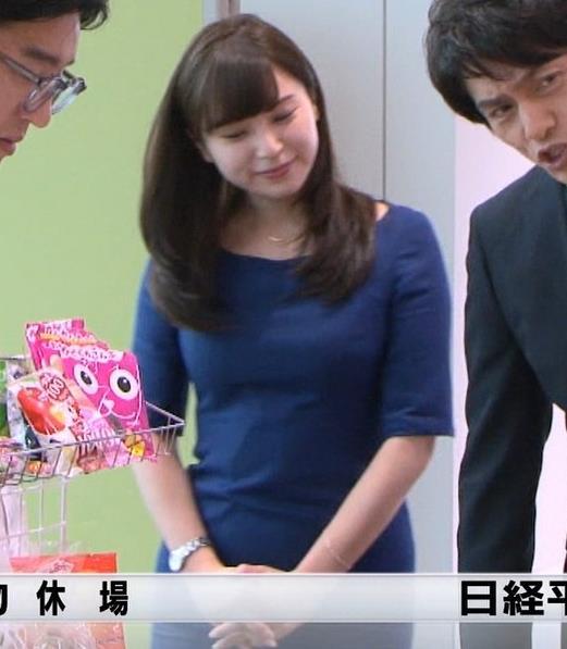 角谷暁子アナ タイトなワンピースキャプ・エロ画像5