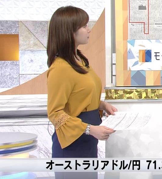 角谷暁子アナ 爆乳化してるキャプ・エロ画像2