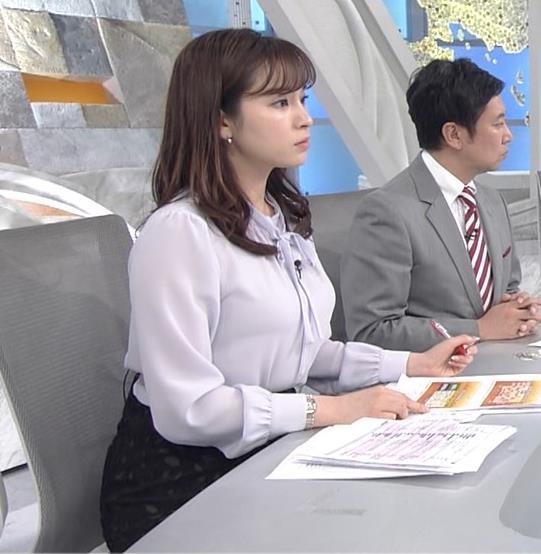 角谷暁子アナ 突き出したデカい横乳キャプ・エロ画像6