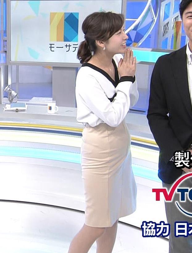 角谷暁子アナ タイトスカートのお尻キャプ・エロ画像7