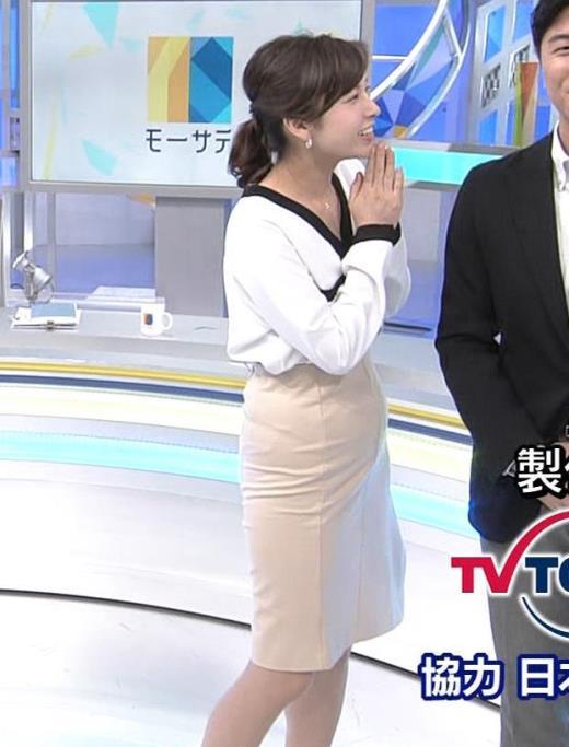 角谷暁子 タイトスカートのお尻キャプ画像(エロ・アイコラ画像)