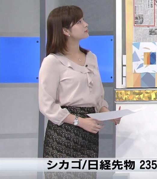 角谷暁子アナ エロい身体つきがキャプ・エロ画像3
